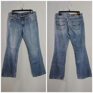 American Eagle Hipster Skinny Flares Jeans Sz 4P